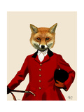Fox Hunter 2 Portrait Prints by  Fab Funky