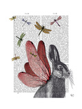 Dragonfly Hare Premium Giclee Print by  Fab Funky
