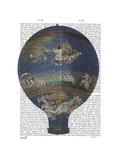 Machine Aerostatique Hot Air Balloon Print by  Fab Funky