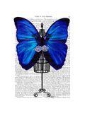 Mannequin Blue Butterfly Posters by  Fab Funky