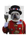 Bulldog Beefeater Premium Giclee Print by  Fab Funky