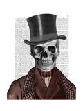 Skeleton Gentleman and Top hat Posters by  Fab Funky