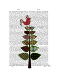 Tartan Tree Illustration Posters by  Fab Funky