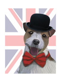 Union Jack Jack Russell Art by  Fab Funky