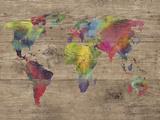 World of Colours - Vintage Giclee-trykk av Sandra Jacobs