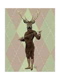 Fencing Deer Full Prints by  Fab Funky
