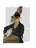 Horatio Hare on Chair Poster by  Fab Funky