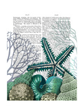 Starfish under the Sea Poster by  Fab Funky