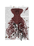 Woodland Corset Premium Giclee Print by  Fab Funky