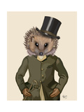 Hedgehog Rider Portrait Premium Giclee Print by  Fab Funky