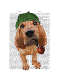 Bloodhound Sherlock Holmes Prints by  Fab Funky