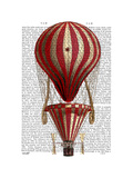 Tiered Hot Air Balloon Print Red Posters by  Fab Funky