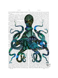 Fishy Blue Octopus Posters by  Fab Funky