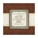 Inspired Wine IV Print by  Vision Studio
