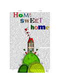 Home Sweet Home Illustration Premium Giclee Print by  Fab Funky