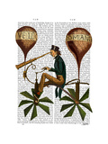 Voyage a La Lune Hot Air Balloon Prints by  Fab Funky
