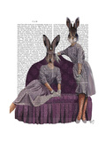 Rabbits in Purple Posters by  Fab Funky