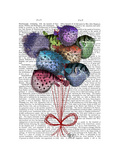 Puffer Fish Balloons Premium Giclee Print by  Fab Funky