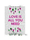 Love Is All You Need Illustration Premium Giclee Print by  Fab Funky