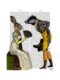 Look of Love Regency Badger and Hare Couple Posters by  Fab Funky