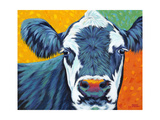 Colorful Country Cows I Art by Carolee Vitaletti