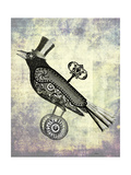 Steampunk Crow Premium Giclee Print by  Fab Funky