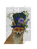 Fox Mad Hatter Poster by  Fab Funky