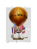 City of New York Hot Air Balloon Prints by  Fab Funky