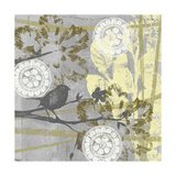 Serene Bird and Branch II Prints by Jennifer Goldberger