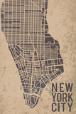 New York Street Map Giclee Print by Tom Frazier