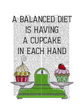 A Balanced Diet Illustration Premium Giclee Print by  Fab Funky