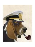 Basset Hound Sea Dog Posters par  Fab Funky