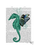 Winged Seahorse Posters by  Fab Funky
