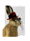 Steampunk Hare with Bowler Hat Affiches par  Fab Funky