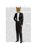 Fox in Evening Suit Full Print by  Fab Funky