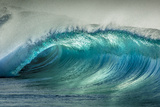 Wave Photo at Papohaku Beach, West End, Molokai, Hawaii Fotografisk trykk av Richard Cooke III