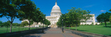 West View of Us Capitol Building, Washington Dc Photographic Print by Panoramic Images