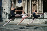 Ballerinas from the National Ballet of Cuba Dance on the Streets of Havana Photographic Print by Kike Calvo