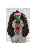 Springer Spaniel with Cupcake Print by  Fab Funky