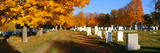 Cemetery in Autumn at Brattleboro, Vermont Photographic Print by Panoramic Images