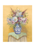 Bouquet in Asian Vase I Premium Giclee Print by Wendy Russell