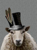Steampunk Sheep Plakater af Fab Funky