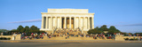 Lincoln Memorial and Tourists in Morning, Washington Dc Photographic Print by Panoramic Images
