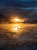 A Dramatic Winter Sunrise over the Chilkat River Photographic Print by Jak Wonderly