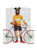 Greyhound Cyclist Art by  Fab Funky