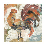 Rooster Flair II Prints by Evelia Designs