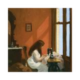Girl at a Sewing Machine, c.1921 Reproduction giclée Premium par Edward Hopper