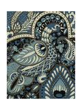 Indigo Peacock I Art by Chariklia Zarris