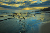 Tide Pools at Sunset, at Kawakiu Nui Beach, West End, Molokai, Hawaii Photographic Print by Richard Cooke III