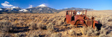 Deserted Car with Cow Skeleton, Great Basin, Nevada Photographic Print by Panoramic Images